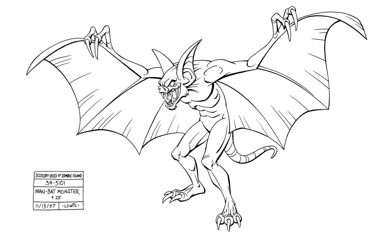 view full size - Scooby Doo Monster Coloring Pages