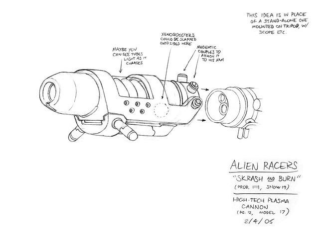 Alien Racers: Ultrox's Plasma-Cannon