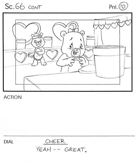 Care Bears: Cheer Bear Storyboard Panel