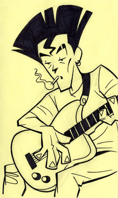 Post-it: Style Guitarist