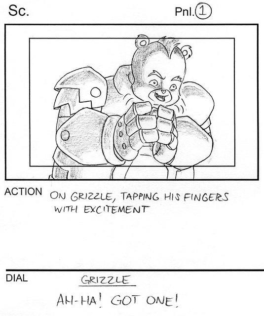 Care Bears: Grizzle Storyboard Panel