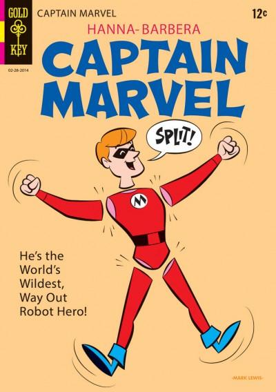 Captain Marvel Split! by Mark Lewis